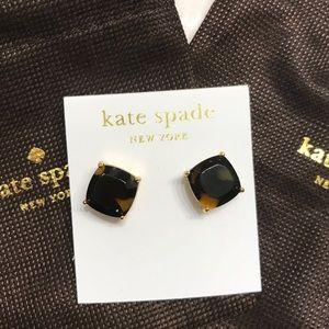 Kate Spade large tortoise shell studs